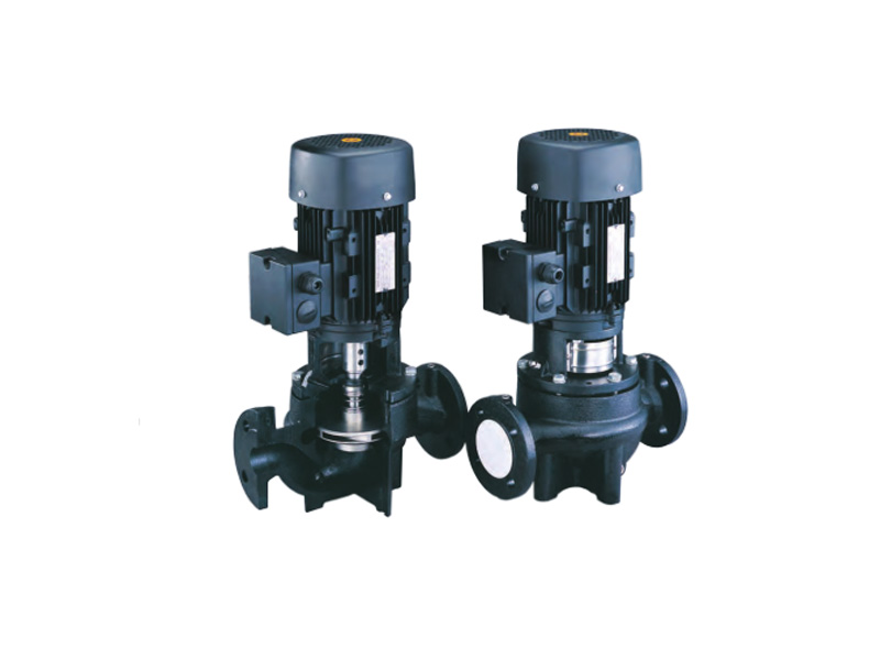 Close coupled vertical in-line centrifugal pump