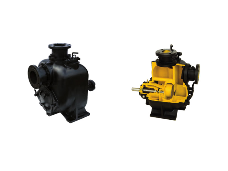 Non-clogging self priming pump